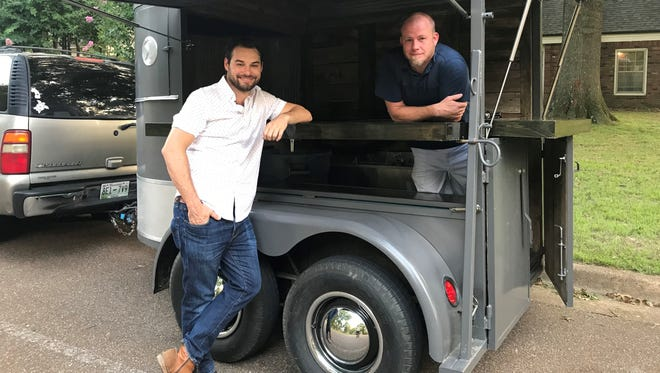 Lowell Hinte (left) and Scott Boyd (right) founded Memphis Bar Ties in 2014. The two are planning a pop-up beer garden at Saddle Creek North.