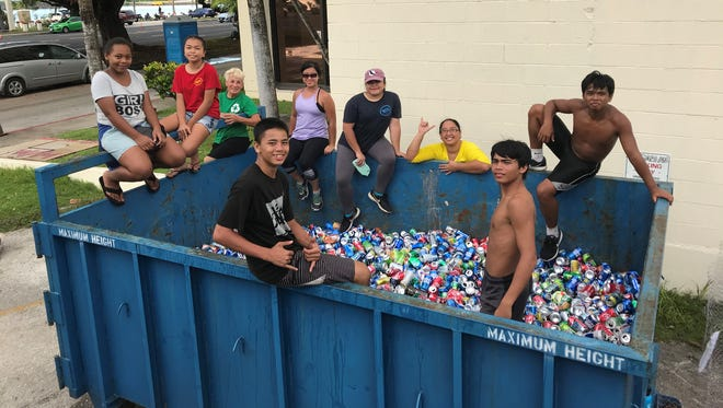 I*Recycle Guam partnered with Guam Community College Guam EcoWarriorshelped to reduce waste during the 74th Liberation Day Paradeby collecting recycled items like aluminum cans and plastic bottles.