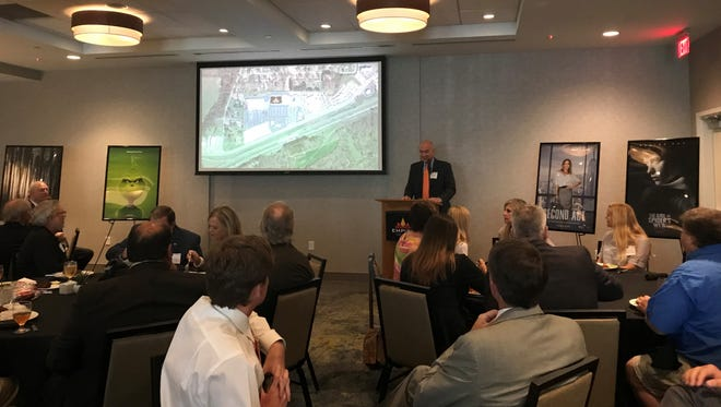 Phil Zecheretti tells officials from Jackson about the theatre his company, Phoenix Entertainment, is bringing to Jackson.
