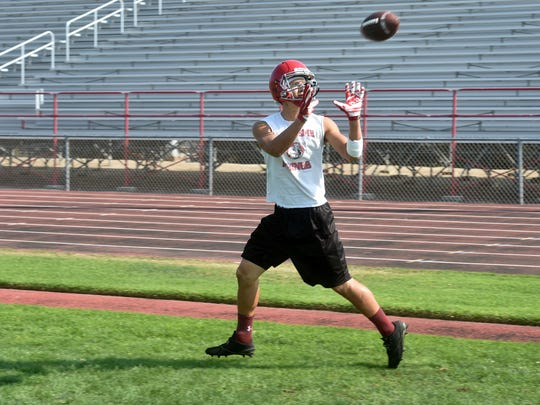 Parker Neos has worked hard to become a top target at tight end for Hueneme, while also being a pass-rushing force at defensive end.