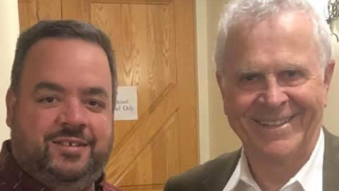 """During a road trip to Nicholas County, Chapin Jewell took the opportunity to participate in a storytelling workshop with """"Rocket Boys"""" author Homer Hickam."""