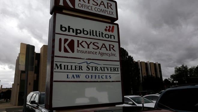 BHP Billiton offices are pictured Wednesday in the 300 Block of West Arrington Street in Farmington.