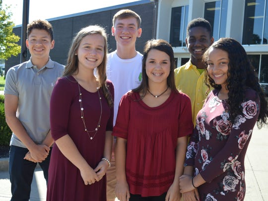 Freshman Homecoming Court is, front row from left: Hailey Snow, Estie Hazelwood and KyReonna Norris. Back row, from left: Jordan Toribio, Sam Elliott and Jorden Savage.