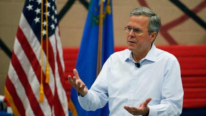 Former Florida governor Jeb Bush speaks in Henderson, Nev., on June 27, 2015.