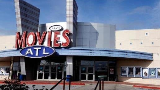 This Dec. 17, 2014, photo shows a Carmike Cinemas movie theater in Atlanta.