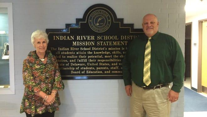 Indian River School District Superintendent Susan Bunting and Indian River School District Assistant Superintendent Mark Steele.