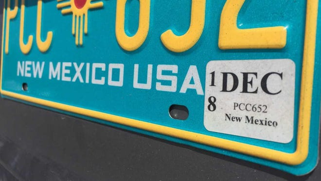 The New Mexico Motor Vehicle Division has run out of the special paper required to print new vehicle registration stickers.