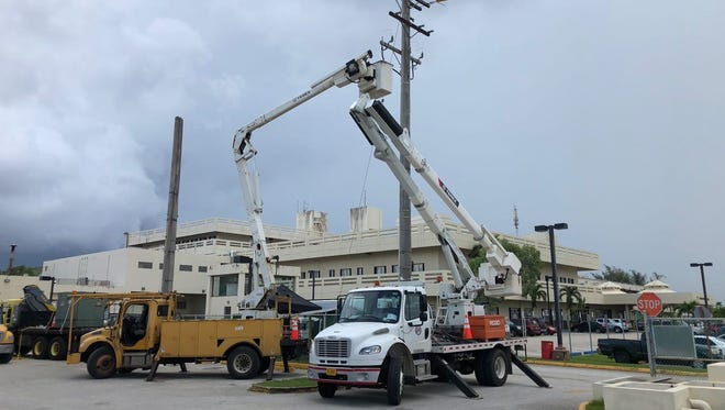 GMH on generator power as GPA crew work on lines next to the hospital.