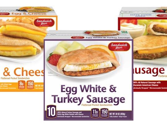 Breakfast: Sandwich Bros. Flatbread Pocket Breakfast Sandwiches - Kangaroo Brands Inc.