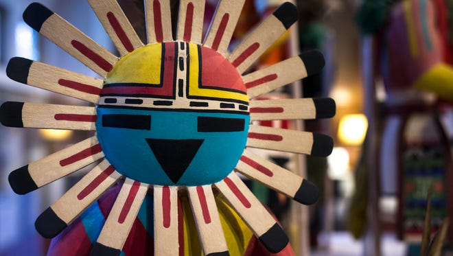 A kachina from the Mary Mack Collection on display at the Amerind Museum, January 15, 2015, Dragoon, Arizona.