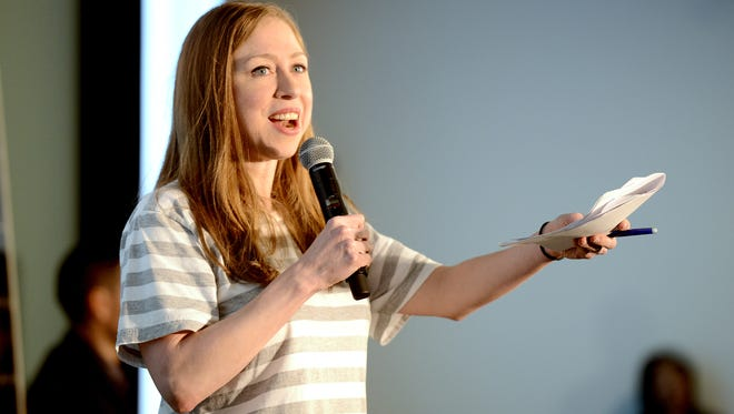 Chelsea Clinton discusses clean energy at The Collider while campaigning for her mother, Democratic presidential candidate Hillary Clinton, Sept. 28. She will return to the Asheville area Saturday.