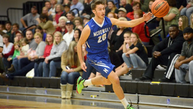 Chase Justice and McDowell are home for Tuesday's Mountain Athletic Conference basketball game against Erwin.