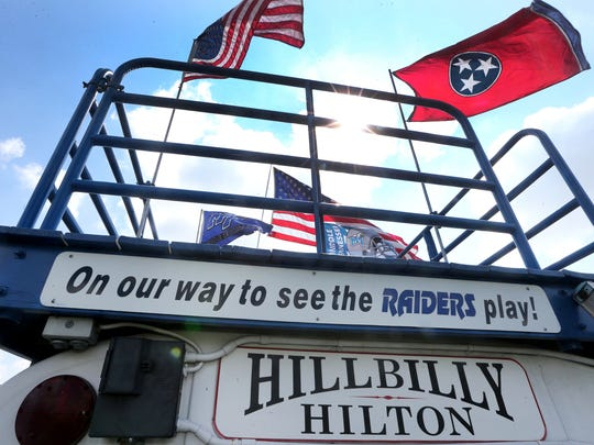 The Hillbilly Hilton, owned by Danny  and Dawn Farrer, sets up early in preparation for MTSU for home games. Photo taken on Thursday, Sept. 1, 2016.