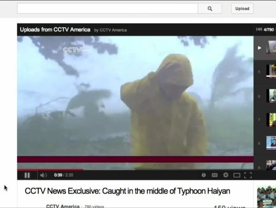 Reporting from inside Typhoon Haiyan