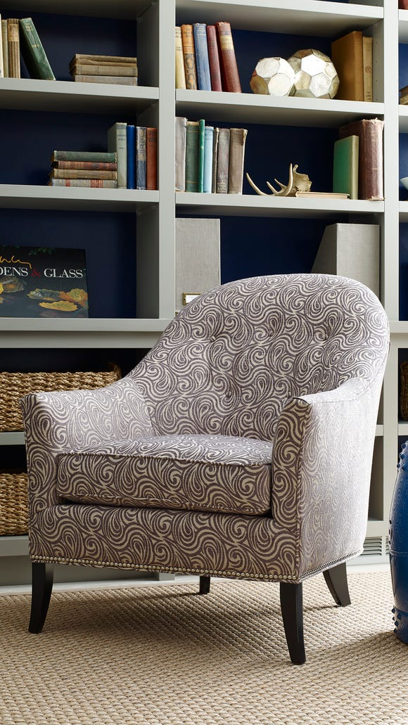 This versatile, American-made accent chair comes in virtually any fabric and wood finish - or, choose a budget-friendly, ready-made import.