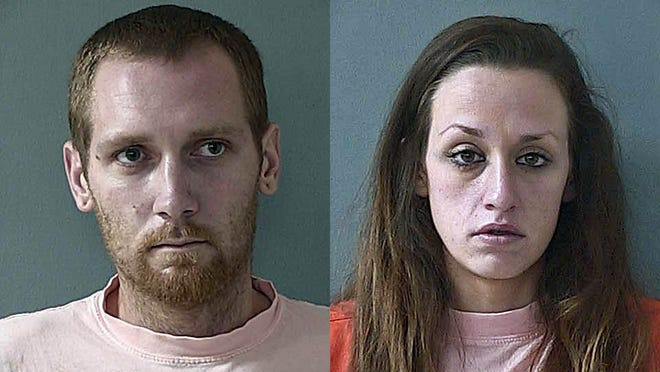 Keegan Vaughn, 28, left, and Crystal Rice, 26, suspects in the burglary of several guns from the Sportsman's Warehouse in Reno who was arrested July 29, 2014, in Floriston by the California Highway Patrol after a chase from the Boomtown area.