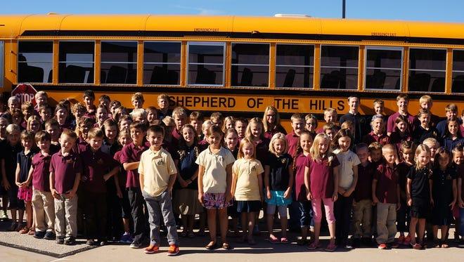Shepherd of the Hills parish and school's new bus