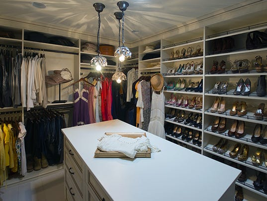 A romantic walk in with a country flair for California closets reno