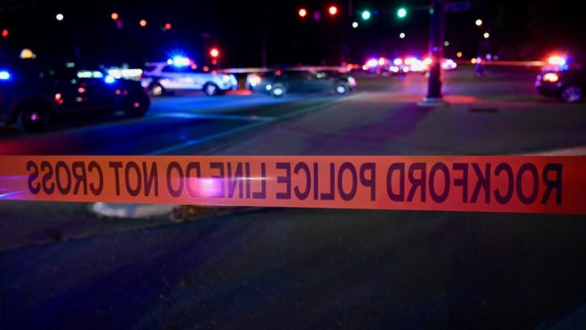 Police block of the intersection of Springfield Avenue and South Main Street on Friday after a chase and crash that ended when a police officer shot a man being pursued.