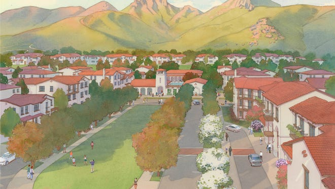 A rendering of the second part of the University Glen housing project.