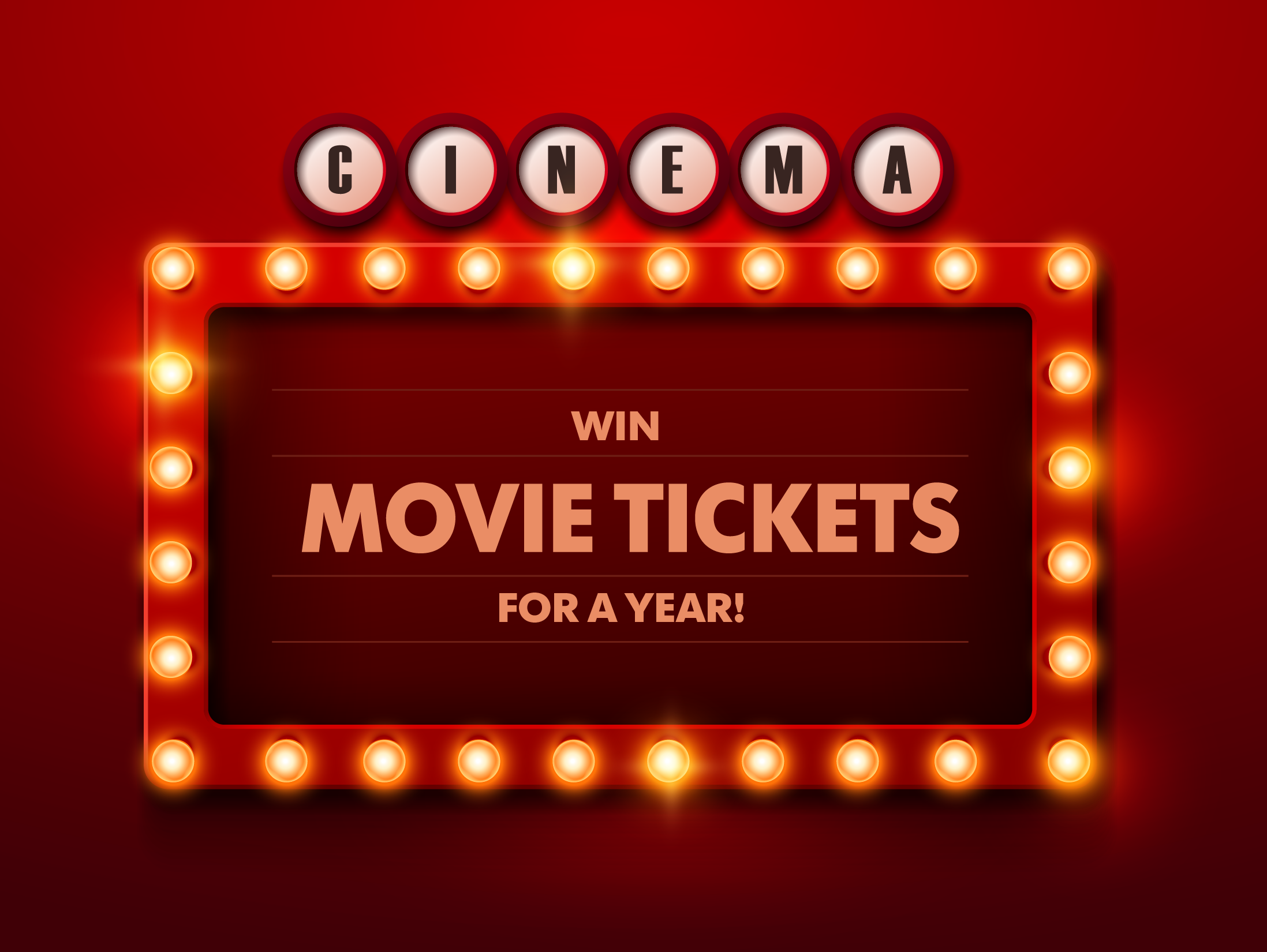 Enjoy a night at the movies every month! Enter to win 1/30-2/25