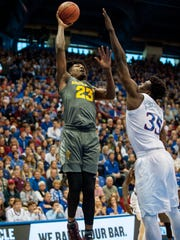 Arizona State's Romello White shoots the ball against