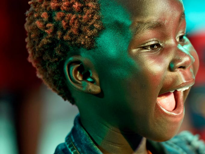 Seven-year-old Emmanuella Lakica, one of the choir's