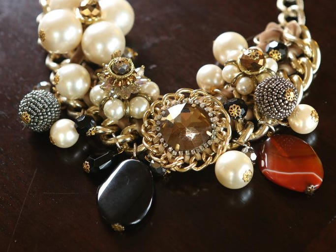 Stylemaker Shannon Borden's necklace from Collections at Westport Village. May 8, 2014.