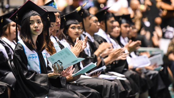 Over 400 graduates received a total of 462 degrees, certificates and/or diplomas as their accomplishments were celebrated during Guam Community College's 41st Commencement Ceremony at the University of Guam's Calvo Field House in Mangilao on Friday, May 11, 2018.