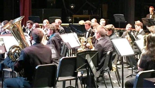 Snow Canyon High School Band at the 2018 Southern Utah Performing Arts Festival.