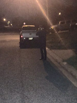 A man who Terry Manning said had been in the yard of neighbors about 1:30 a.m. Wednesday in the Richardson Park area.