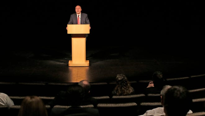 """Atty. Rick Esenberg, president and general counsel for the Wisconsin Institute for Law and Liberty spoke on """"Liberty and the Constitution"""" during a Law Day program Thursday May 5, 2016 at the John Michael Kohler Arts Center in Sheboygan."""
