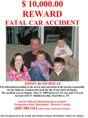 Jimmy McNicholas's family offering reward for information leading to the conviction of the driver who killed him and drove off.