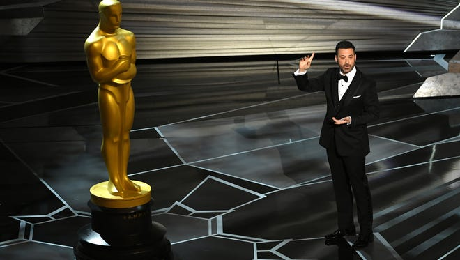 Host Jimmy Kimmel speaks onstage during the 90th Annual Academy Awards on March 4, 2018 in Hollywood, California.