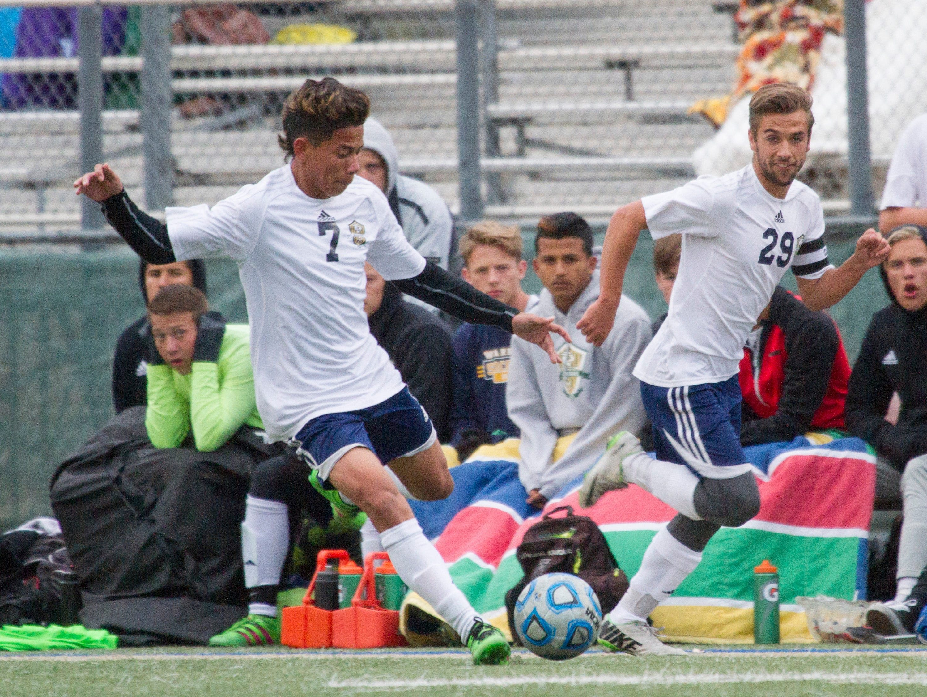 Snow Canyon boys soccer hosts Pine View Thursday, March 29, 2016.