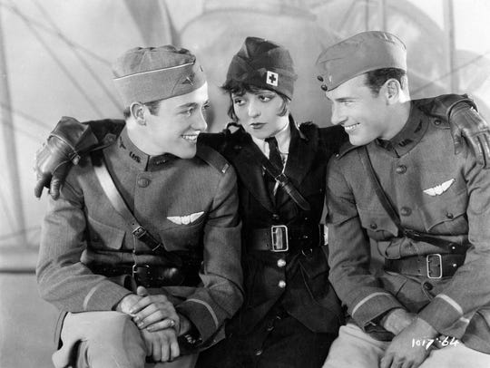 "Charles ""Buddy"" Rogers, Clara Bow and Richard Arlen,"
