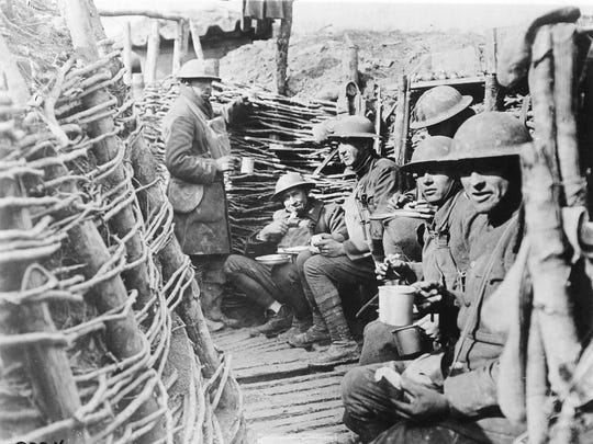 Peaceful moments were rare in the American trenches