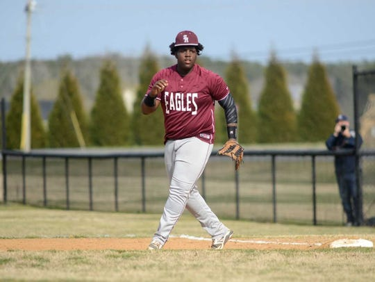 Shamiaz Elsey is a junior first baseman for the Snow Hill Eagle