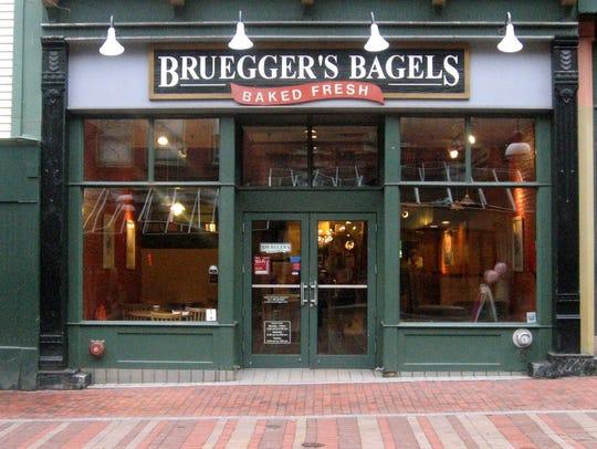 Bruegger's Bagels on Church Street in Burlington on