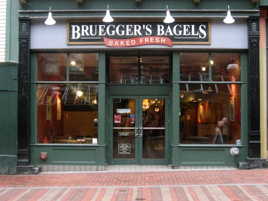 Bruegger's Bagels on Church Street in Burlington on Monday, March 21, 2011.