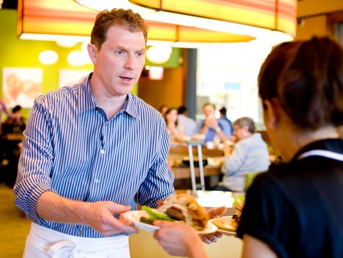 Celebrity chef Bobby Flay at his namesake Bobby's Burger Palace.