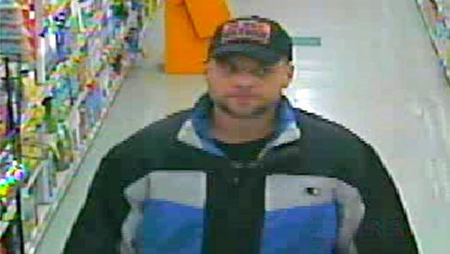 State police are looking for this suspect in retail theft of Coricidin Cold & Flu medication at BG's Supermarket,Old Route 22, Swatara Township, on Nov. 10 and Mike's Pharmacy, 211 W. Washington Ave., Myerstown, on Dec. 1.