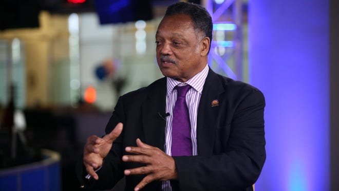 Jesse Jackson at USA TODAY in McLean, Va., in 2014.