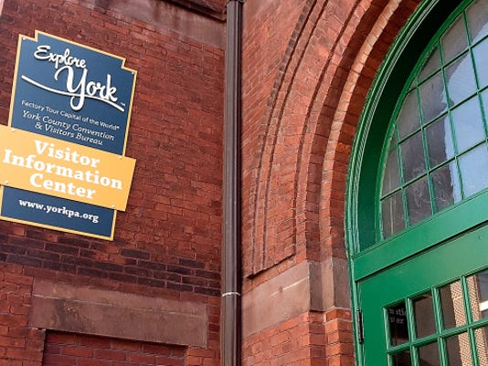 The Downtown York Visitor Information Center is in the northwest corner of Central Market.