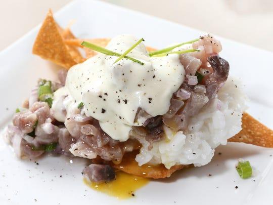 The yellowfin tartare dish from Mirin.