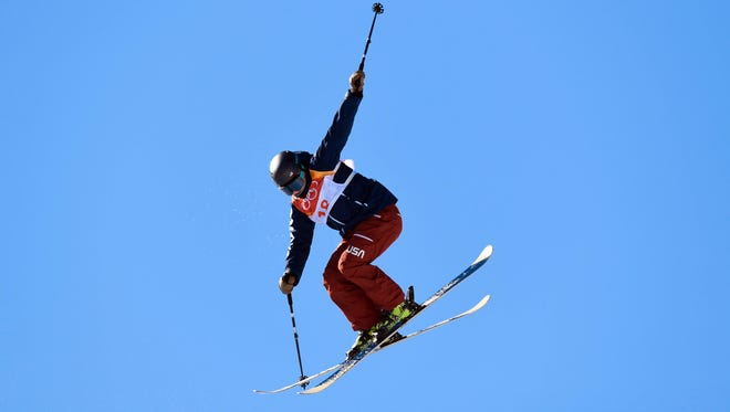 Devin Logan of the USA competes the qualifying in freestyle skiing slopestyle.