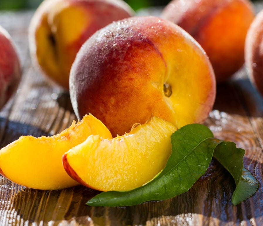 14. Peach. Researchers think that peaches came from China originally, where there is evidence they were cultivated as far back as 8,000 years ago. Europeans frequently misidentified the origins of new foods, however, and for whatever reasons became c