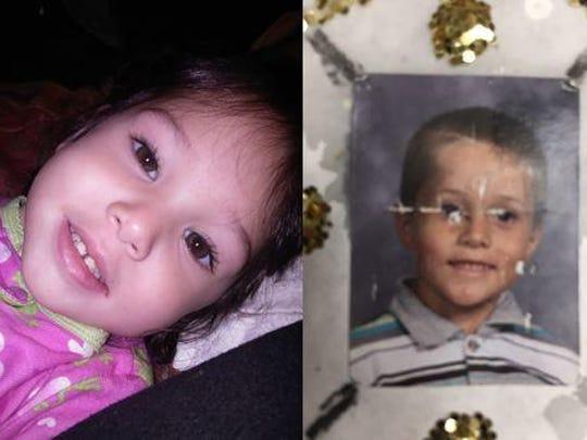 Three-year-old Delylah Tara and six-year-old Shaun Tara