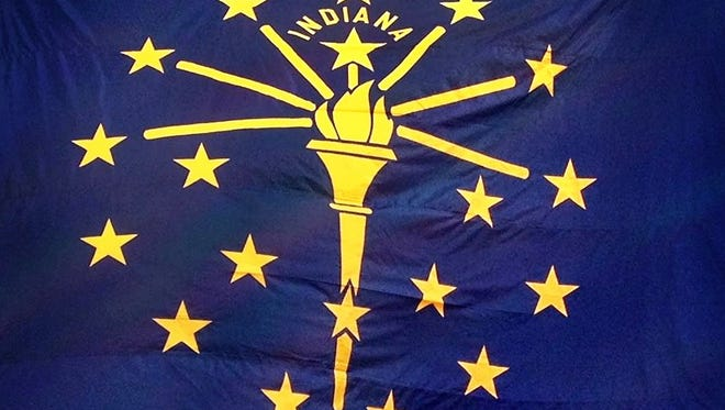 The Indiana state flag.