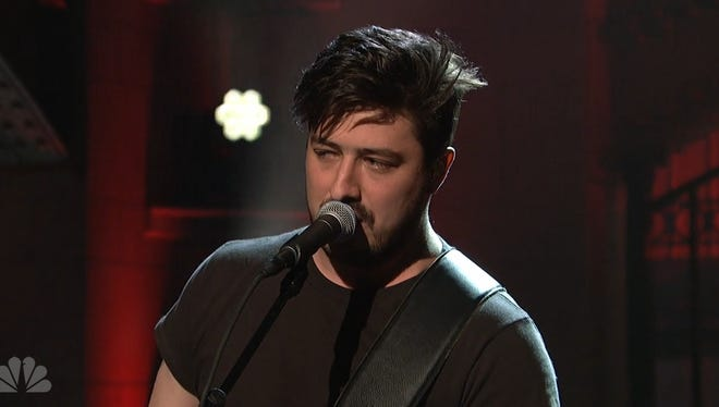 "Marcus Mumford performs ""The Wolf"" on ""Saturday Night Live"" on April 11."